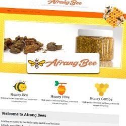 طراحی سایت زنبور عسل افرنگ بی